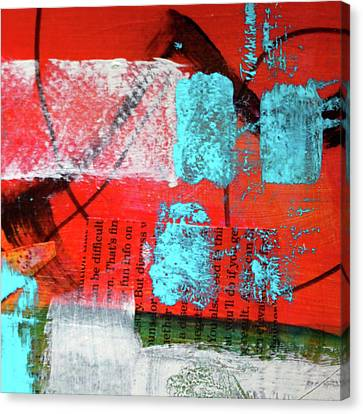 Canvas Print featuring the mixed media Square Collage No. 10 by Nancy Merkle