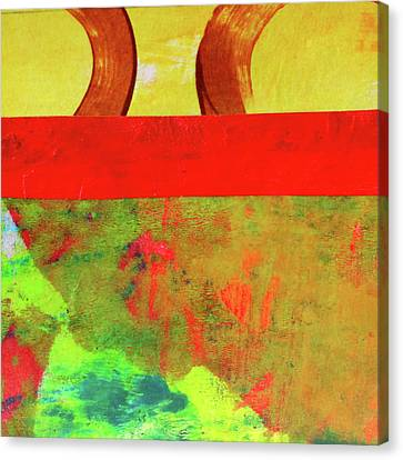 Canvas Print featuring the mixed media Square Collage No. 11 by Nancy Merkle