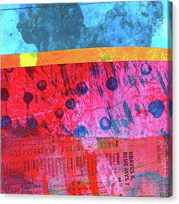 Canvas Print featuring the painting Square Collage No. 12 by Nancy Merkle
