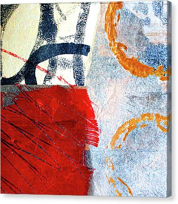 Canvas Print featuring the painting Square Collage No. 3 by Nancy Merkle