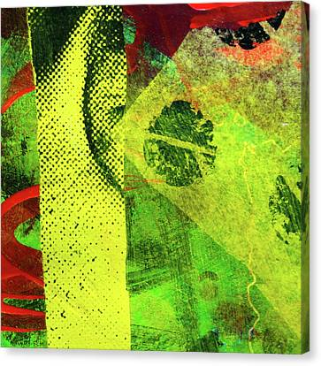 Canvas Print featuring the mixed media Square Collage No. 8 by Nancy Merkle