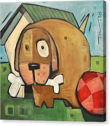 Square Dog Canvas Print