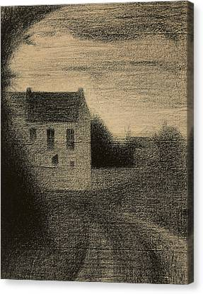 Square House Canvas Print by Georges Pierre Seurat