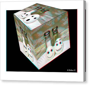 Square Meal - Use Red-cyan 3d Glasses Canvas Print