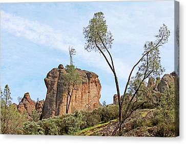 Canvas Print featuring the photograph Square Rock Formation by Art Block Collections