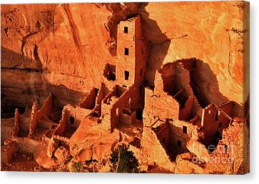 Pueblo Architecture Canvas Print - Square Tower House by Jim Chamberlain