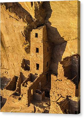 Square Tower House Canvas Print by Joseph Smith