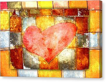 Squared Heart Canvas Print by Carol Leigh