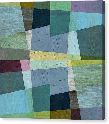 Canvas Print featuring the digital art Squares And Shims by Michelle Calkins