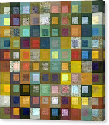 Canvas Print featuring the digital art Squares In Squares Five by Michelle Calkins