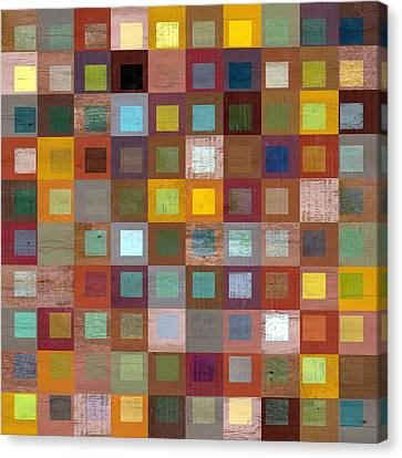 Canvas Print featuring the digital art Squares In Squares Four by Michelle Calkins