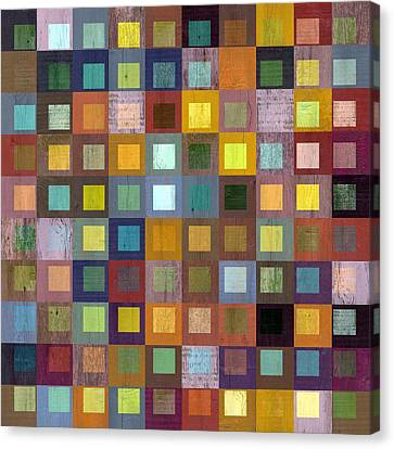 Canvas Print featuring the digital art Squares In Squares One by Michelle Calkins