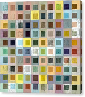Squares In Squares Three Canvas Print by Michelle Calkins