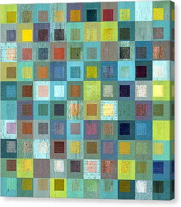 Canvas Print featuring the digital art Squares In Squares Two by Michelle Calkins