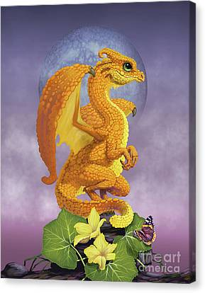 Canvas Print featuring the digital art Squash Dragon by Stanley Morrison