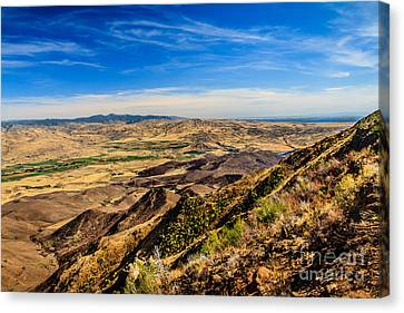 Squaw Butte View Hdr-3 Canvas Print by Robert Bales
