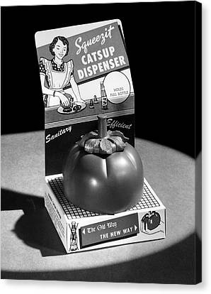Squeezit Catsup Dispenser Canvas Print by Underwood Archives