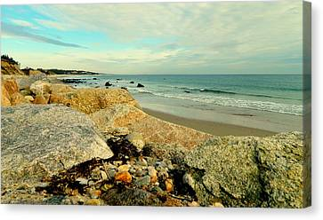 Squibby Cliffs And Mackerel Sky Canvas Print
