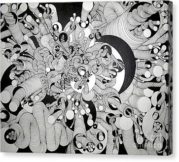 Squiggle Art By Amy Canvas Print