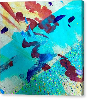 Canvas Print featuring the painting Squiggles And Stripes by Darice Machel McGuire