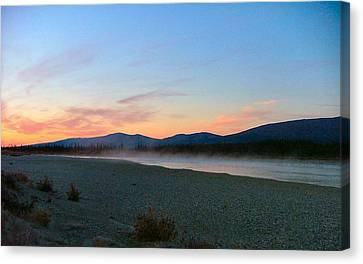 Squirell River In The Morning Canvas Print