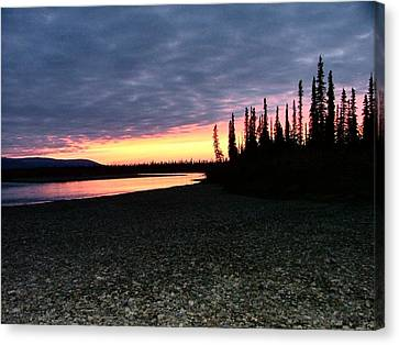 Squirell River Sunset Canvas Print