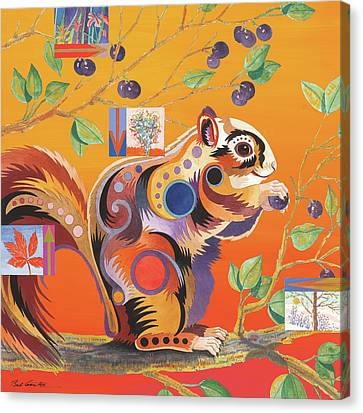 Squirrelling Away Canvas Print by Bob Coonts