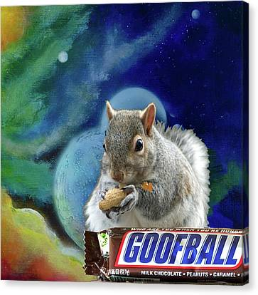 Squirrels In Space Canvas Print