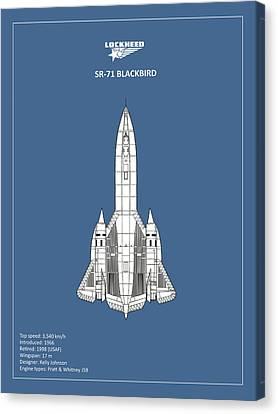 Lockheed Aircraft Canvas Print - Sr-71 Blackbird by Mark Rogan