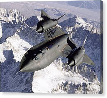 Sr-71b Blackbird In Flight Canvas Print