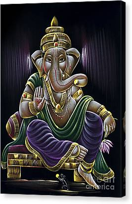 Sri Ganapati Canvas Print by Tim Gainey
