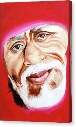 Sri Shirdi Sai Baba  Canvas Print by Kalpana Gandhi