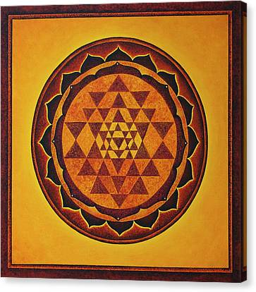 Sri Yantra - The Glow Of The Beloved Canvas Print