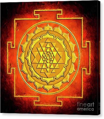 Sri Yantra - Artwork Warming Canvas Print