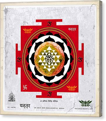 Sri Yantra Magic Canvas Print by Sandra Petra Pintaric
