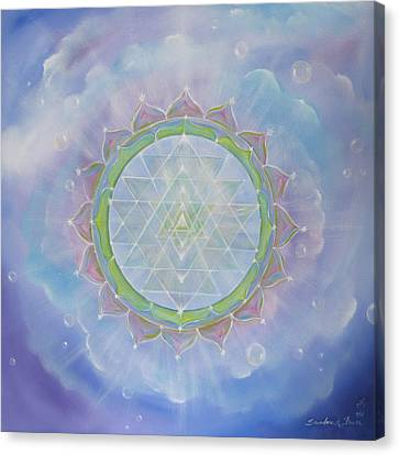 Sri Yantra Canvas Print by Sundara Fawn