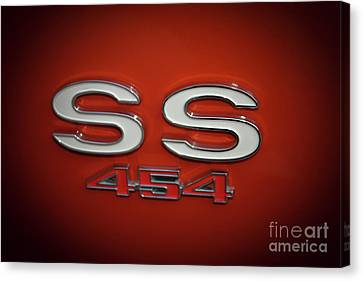 Ss 454 Chevy Automobile Art Canvas Print by Reid Callaway