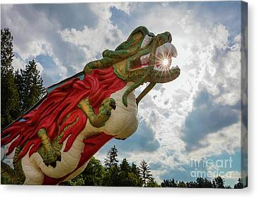 Stanley Park Canvas Print - S.s. Empress Dragon Figurehead by Inge Johnsson