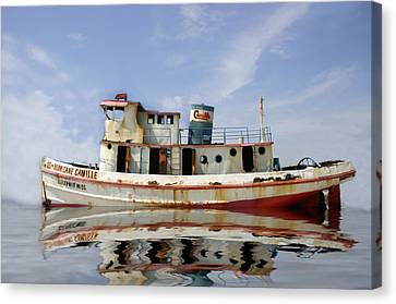 Ss Hurricane Camille Canvas Print by Shelly Stallings