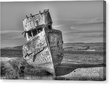 Ss Point Reyes Bw Canvas Print by Jerry Fornarotto