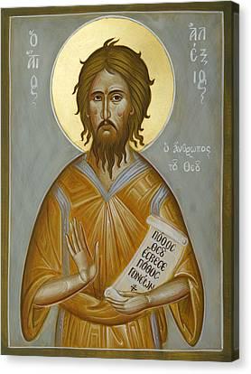 St Alexios The Man Of God Canvas Print by Julia Bridget Hayes