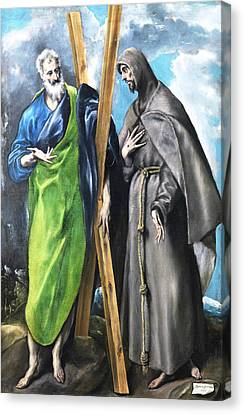 St. Andrew And St. Francis Canvas Print by El Greco