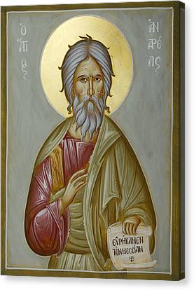 St Andrew The Apostle And First-called Canvas Print by Julia Bridget Hayes