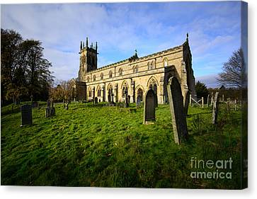 St Andrews Church, Aysgarth Canvas Print by Nichola Denny