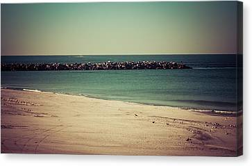 Panama City Beach Canvas Print - St. Andrews State Park Jetties by Debra Forand