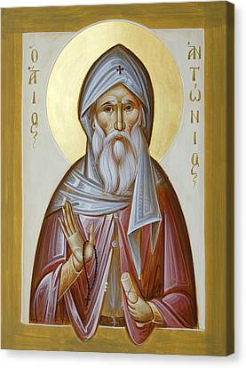 St Anthony The Great Canvas Print - St Anthony The Great by Julia Bridget Hayes