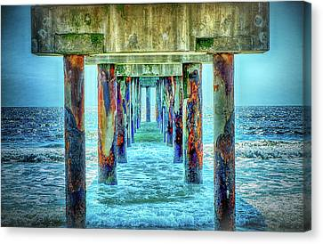 Canvas Print featuring the photograph St. Augustine Beach by Louis Ferreira