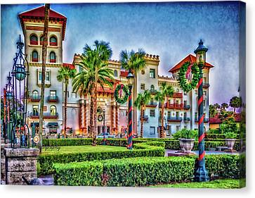 St. Augustine Downtown Christmas Canvas Print