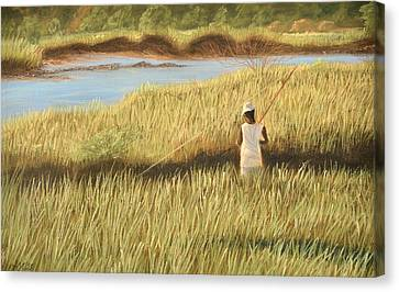 St. Augustine Fisherman Canvas Print by Jan Amiss