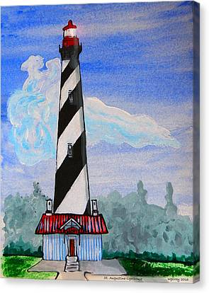 St Augustine Light  Canvas Print by W Gilroy